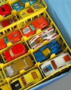 Vintage 70s Mattel Matchbox Toy Cars and Carrying Case