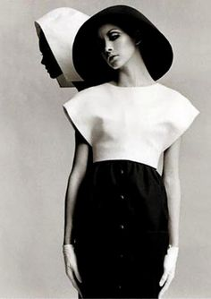Harper's Bazaar, March 1968. Issue: Paris. Models Cathee Dahman & Marola Witt wearing Balenciaga. www.fashion.net