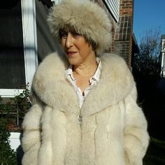 HOST PICK  3X Vintage fox hat and coat XL Please read carefully. The headband will come with the coat and was purchased by me over 25 years ago. The coat was purchased by me several years ago in a thrift shop and I do not know if it is vintage. It has been taken to a furrier to verify that it is Fox. Condition is fabulous with leather on sleeves and in front by zipper. Please do not try to bargain me down this is a great deal. 23 inches shoulder to shoulder 25 inches pit to pit, 25 inch…