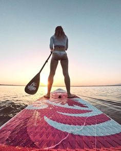 Best time for paddle boarding-Morning Morning sup,get a beautiful sunrise for the day.-Photo Location:Chiemsee, Bayern, Germany board boarding up paddle Sup Stand Up Paddle, Sup Paddle, Sup Girl, Sup Accessories, Vw Camping, Sup Boards, Lake Pictures, Standup Paddle Board, Paddle Board Yoga