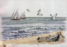 **Cantinho da Lih**: Quadro Paisagem Mar, em Ponto Cruz!