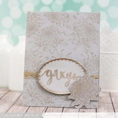 Multi-layered Stamping, Heat Embossing, Dahlia Stamps