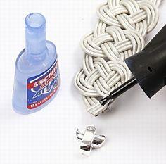 Brazalete de cuero trenzado DIY 14