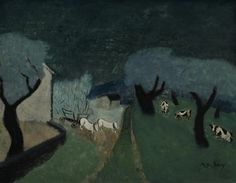 Milton Avery (American, 1885-1965), Connecticut Landscape, 1943. Oil on canvas, 28 x 36 in.