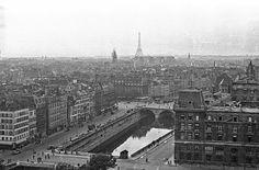 Vintage Photo: 1949 Paris Rooftops from Notre Dame by eeBeeVintage