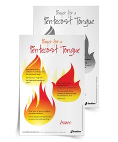 Pentecost reminds us of the importance of spreading the Good News with love. Download a 'Prayer for a Pentecost Tongue' and use it in your parish or home. #Catholic #Catholics #Pentecost #Parish