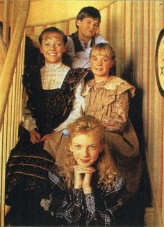 Sarah Stanley with her King cousins, siblings Felicity, Cecily and Felix