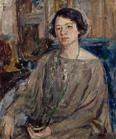 The Jade Necklace by Ethel Walker Date painted: 1930s (?)