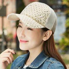 Spring summer Sequins trucker cap for women UV casual sports baseball caps