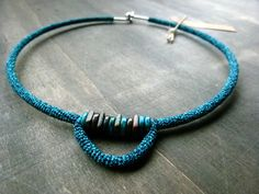 Entirely crochet choker mixed with ceramic beads by http://www.etsy.com/shop/zsazsazsu1963?ref=exp_listing
