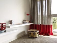 Awesome curtain style    (From blog.kellyhoppeninteractive.com ... The Lakes by Yoo).