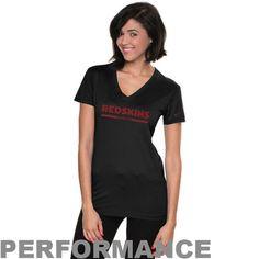 Nike Washington Redskins Women's Legend Wordmark V-Neck Performance T-Shirt - Black - $14.99
