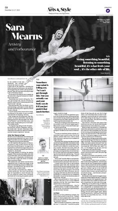 The Artistry and Forbearance of New York City Ballet's Sara Mearns|Epoch Times #Arts #Ballet #newspaper #editorialdesign