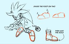 Hey can you give me some tips on how to draw the sonic characters shoes. I'm having trouble with all of them but specifically the boots like Sally, Amy, and Silver wear. Sonic The Hedgehog, Silver The Hedgehog, Shadow The Hedgehog, Body Drawing, Drawing Tips, Drawing Reference, Hedgehog Drawing, Hedgehog Art, Sonic Fan Art