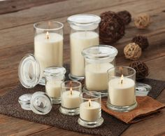 Libbey 'Status' jars are our biggest selling glassware range. Highest quality candle glass to suit your decor.