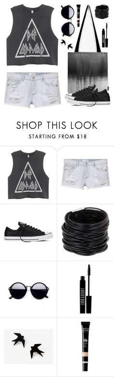 """""""OOTD - The Band"""" by by-jwp ❤ liked on Polyvore featuring MANGO, Converse, Saachi and Lord & Berry"""