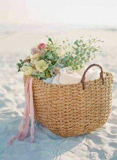 Fiori sulla spiaggia