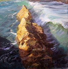 A Place to Rest Your Soul by Gil Dellinger Oil ~ 20 x 20 Seascape Paintings, Nature Paintings, Landscape Paintings, Painting Inspiration, Rest, Oil, Places, Water, Artwork