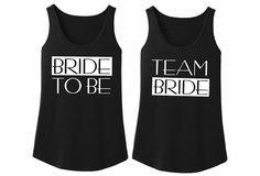 Bride to be tank. Team bride tanks. Bridesmaid Tanks.Bachelorette Party Tanks. Bridal Party Tanks. Bridesmaid Shirts. Bridal party shirts by MydaGreat #bridetobe #bridesmaid #teambride #wedding #summer #bridalparty #bachelorette #bestdayever #weddingshirts #bridalshirts