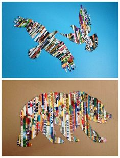 We've gathered our favorite ideas for Magazine Strip Silhouette Wall Art Diy Cozy Home Neat, Explore our list of popular images of Magazine Strip Silhouette Wall Art Diy Cozy Home Neat in recycled magazine collage art. Collage Kunst, Art Du Collage, Create Collage, Collage Ideas, Wall Collage, Art Diy, Diy Wall Art, Diy Educational Toys, Trash Art