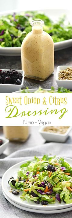 This Sweet Onion and Citrus Dressing tastes exactly how it sounds. Tangy undertones from the onions and lemon, with sweetness from the honey