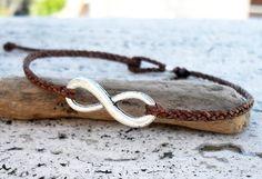 Mens bracelet  Karma bracelet  Infinity bracelet  by Beadstheater, $12.00