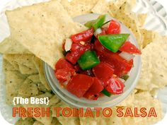 {The Best} Fresh Tomato Salsa / Six Sisters' Stuff | Six Sisters' Stuff