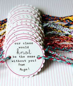 Homemade Valentine's Friendship Bracelets