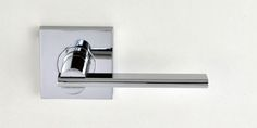 NIDUS PASSAGE SETS Mediterranean levers Metro Square  Finishes: Satin chrome, Polished chrome, Brushed satin chrome. Door Levers, Polished Chrome, Door Handles, Satin, Home Decor, Homemade Home Decor, Elastic Satin, Decoration Home, Door Knobs