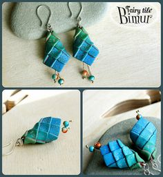 The next Fairy tile earrings, with magic beads | Flickr - Photo Sharing!