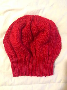 b9e5bfd3f75 Red slouch beanie by yorkpatty on Etsy (Accessories
