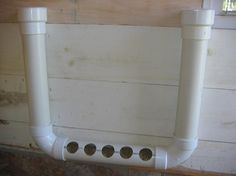 PVC Pipe Chicken Feeder.  2 caps, 2 90deg angles, 3 lengths (your choice)