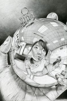 Portrait Drawing Escher inspired reflection self-portraits - What background and round object will your students choose to represent themselves? Middle School Art, Art School, Kunst Portfolio, Ap Drawing, Life Drawing, Drawing Lessons, High School Art Projects, Reflection Art, Atelier D Art