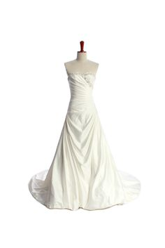 A-line Sweetheart Chapel Train Charming Satin wedding dress