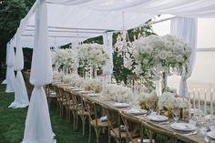 magnifique mariage extérieur - amazing outside weeding — Full Bloom Cottage Wedding, Centerpieces, Table Decorations, Marry Me, Floral Wedding, Floral Arrangements, Lush, Table Settings, Reception
