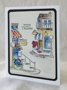 Tryfolds from Art Impressions Rubber Stamps.  Shoppes TF (Sku#4339) ... handmade thank you card.