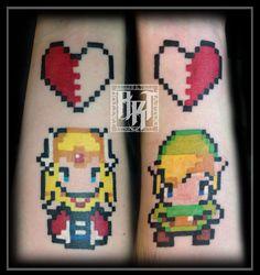 Andrew R Trull/ custom tattoo artist Custom Tattoo, Future Tattoos, 8 Bit, I Tattoo, Tattoo Artists, Fashion Art, Zelda, Legend Of Zelda