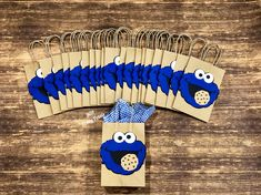 Cookie Monster Treat Bags, Cookie Monster , Candy Bags , Loot Bags set of 12 Source by etsy Sets Boys 1st Birthday Party Ideas, 1st Birthday Decorations, Baby Boy Birthday, Birthday Backdrop, Halloween Decorations, Monster Treats, Elmo And Cookie Monster, Monster 1st Birthdays, Monster Birthday Parties
