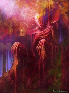 Eros - digital painting download illustration. TomekBiniek.com by TomekBiniek on Etsy