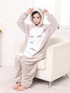 Vận chuyển miễn phí Unisex dành cho người lớn animal đêm đồ ngủ cosplay trang phục Totoro Totoro Onesie đồ ngủ Kích Thước S M LXL