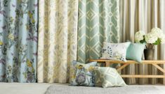 printed-curtains-for-living-room-rooms-bay-windows-bedroom-short-door-decorating … - how to arrange living room furniture Cool Curtains, Beautiful Curtains, How To Make Curtains, Curtains Living, Living Room Windows, Modern Curtains, Living Rooms, Simple Living Room, Living At Home