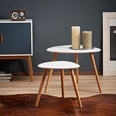 Design Couchtisch Beistelltisch Ø50x60cm mit praktischer Umrandung ...