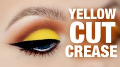 YELLOW CUT CREASE MAKEUP TUTORIAL - Hooded Eyes