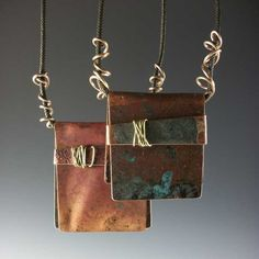 https://flic.kr/p/c1LrMA | # 459 Copper Clutch Bag | I wanted to show how different they can be from one to another. Scraps with natural patinas on the surfaces with contrasted copper bands make for a sculptural effect.   All are about matchbook sized or smaller which keeps them light weight.
