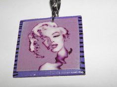Marilyn Monroe wearable art Pendant  A STATEMENT by aBeesCreations, $8.00