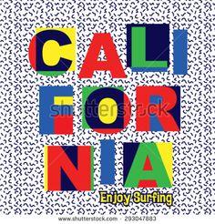 California typography design. Vector illustration. - stock vector