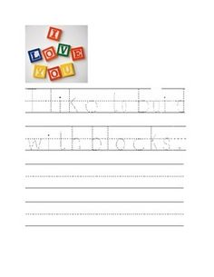 Students will be presented 5 different visual pictures to trace sentences and write on their own.  This is a nice support to get students started on their writing and let them also express their own related thoughts.