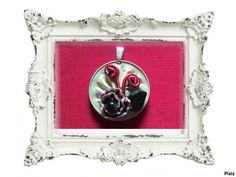 """Pendentif capsules nespresso """"Fleur rouge"""" : Pendentif par tine-creations"""