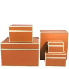 Semikolon Square NestingOrganizer Boxes Set of 5 Orange 30916 * Learn more by visiting the image link.