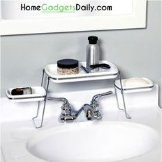 Small Spaces Over-the-Faucet Shelves #faucet #sink #shelf #shelves #small #spaces